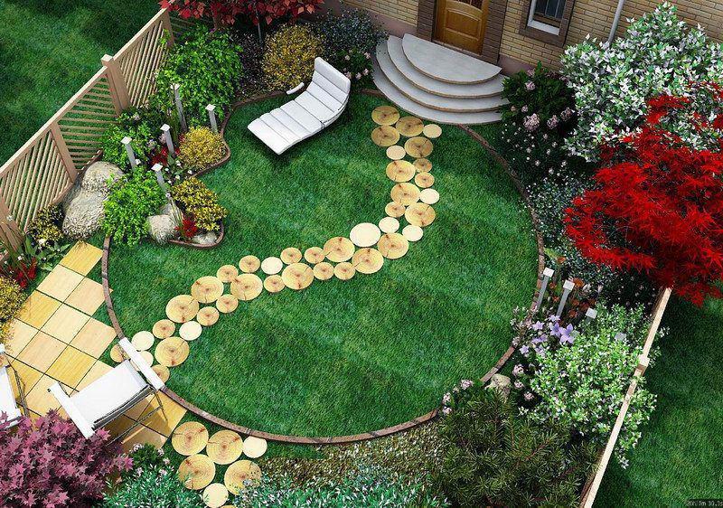 Дизайн сада своими руками с фото